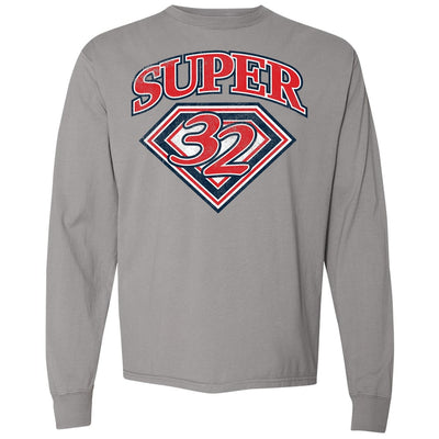 Super 32 Red White and Blue Long Sleeve Tee
