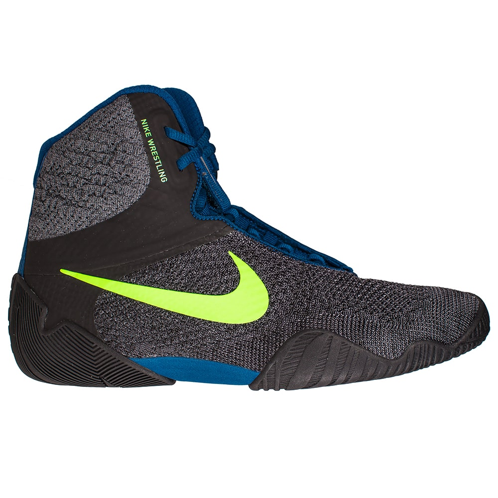 Nike Tawa Wrestling Shoes (Anthracite / Blue)