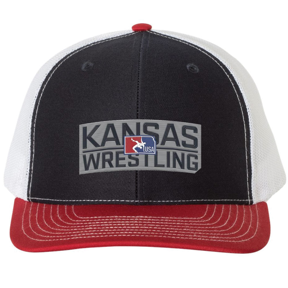 Kansas USA Wrestling Richardson Trucker Hat