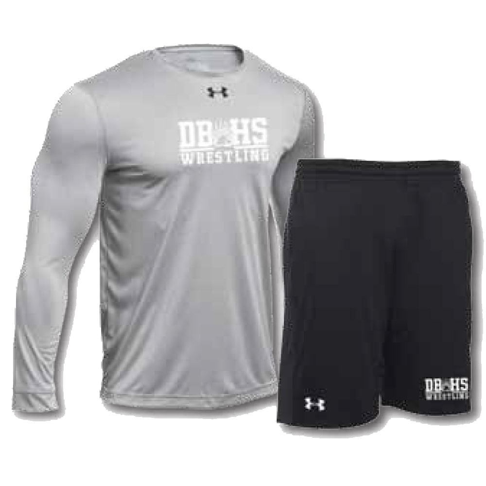 Under Armour Pack #2 (Under Armour Wrestling Long Sleeve Shirt and Shorts Combo)