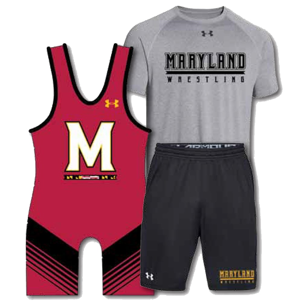 Under Armour Pack #4 (Under Armour Wrestling Singlet, Shirt, and Shorts Combo)