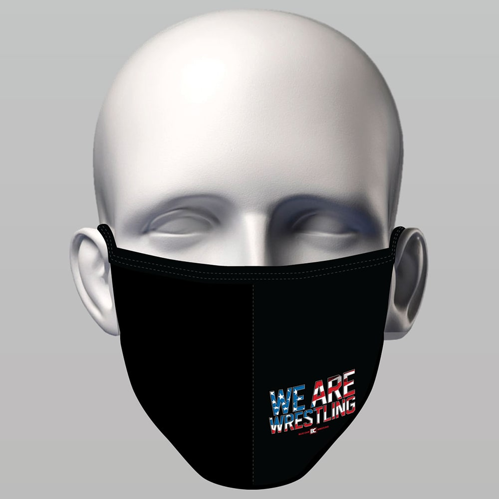 Sewn  Face Mask - We Are Wrestling