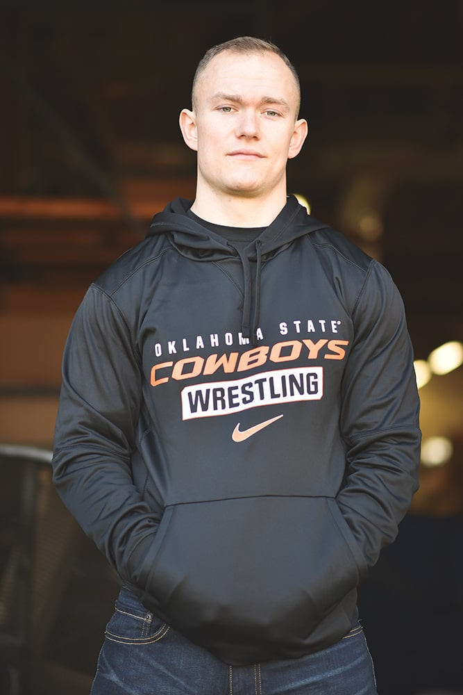 Oklahoma State Cowboys Wrestling Nike Therma PO Hoody