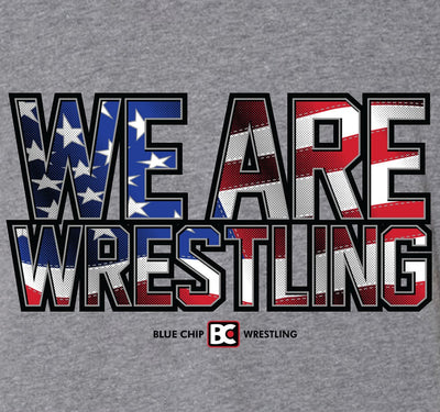 We Are Wrestling Flag Fill Wrestling Hoodie