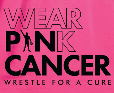Wear Pink / Pin Cancer Pink Wrestling T-Shirt