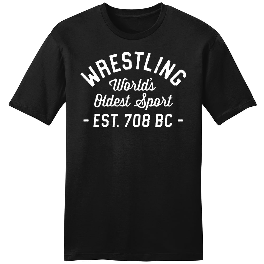 World's Oldest Sport Wrestling T-Shirt (Black)