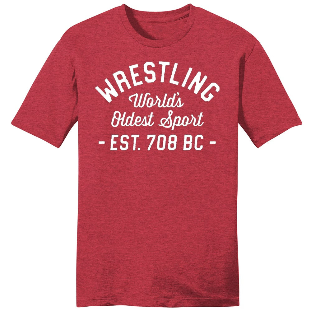 World's Oldest Sport Wrestling T-Shirt (Red)