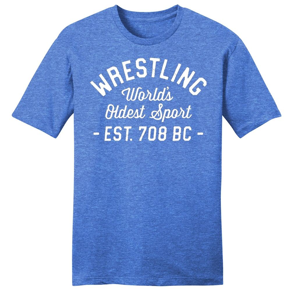 World's Oldest Sport Wrestling T-Shirt (Royal)