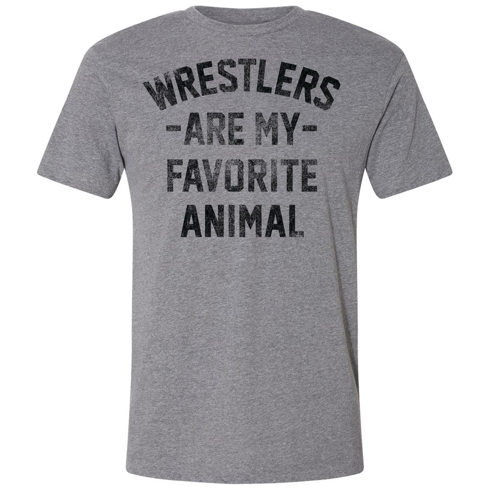 Wrestlers Are My Favorite Animal Wrestilng T-Shirt