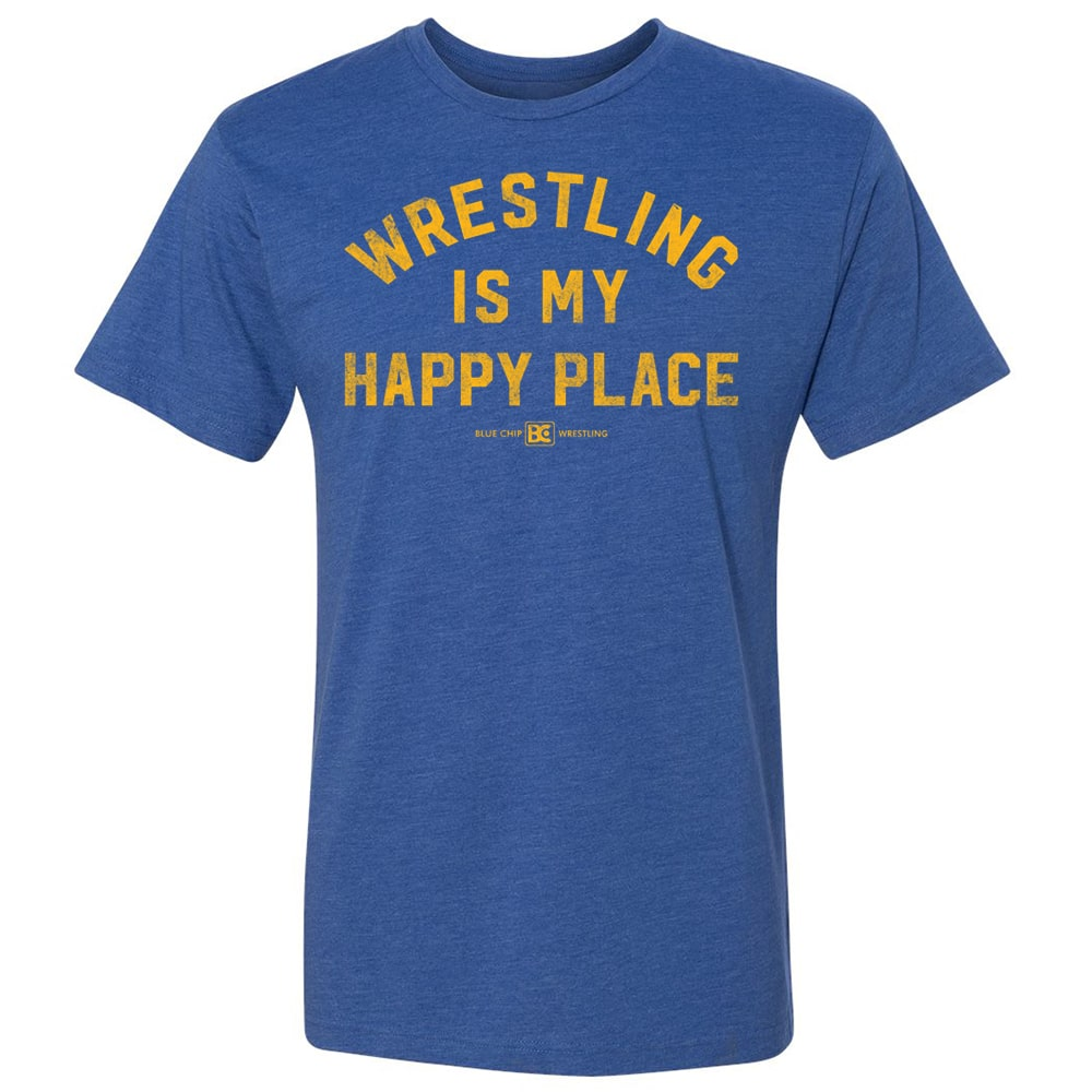Wrestling Is My Happy Place Wrestling T-Shirt