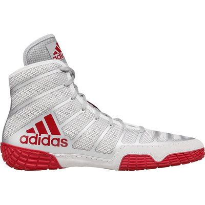 Adidas adiZero Varner Wrestling Shoes (Silver / Red / Red)