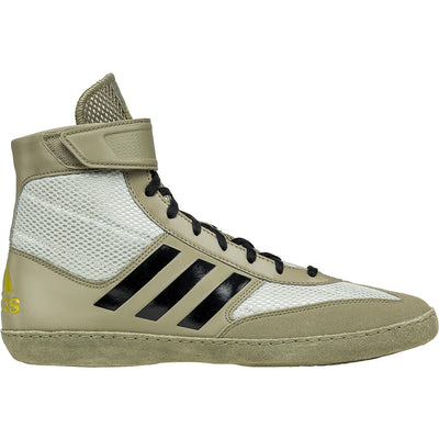 Adidas Combat Speed 5 Wrestling Shoes (Tan / Black / Silver)