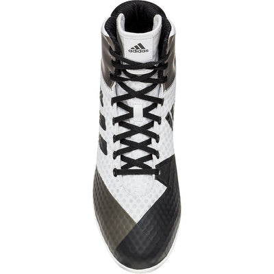 Adidas Mat Wizard 4 Wrestling Shoes (White / Black)
