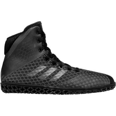 Adidas Youth Mat Wizard 4 Wrestling Shoes (Black / Carbon)
