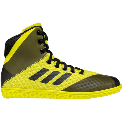Adidas Youth Mat Wizard 4 Wrestling Shoes (Yellow / Black)