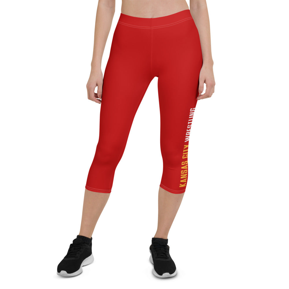 Kansas City Wrestling Women's Capri Leggings