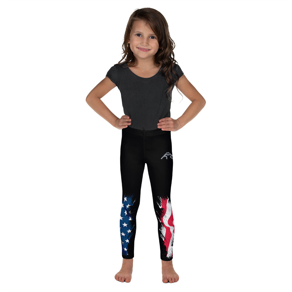 Patriotic Wrestling Kid's Leggings