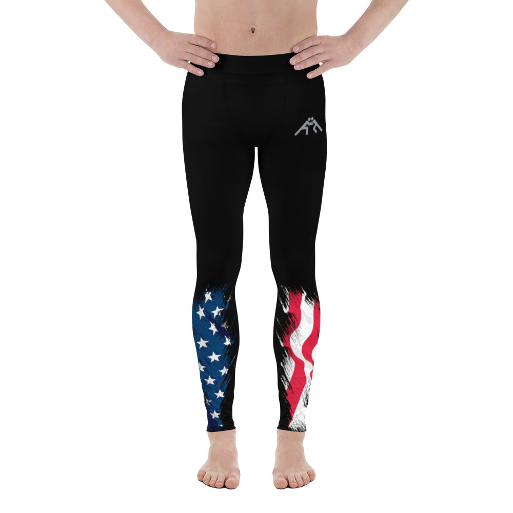 Patriotic Wrestling Men's Leggings