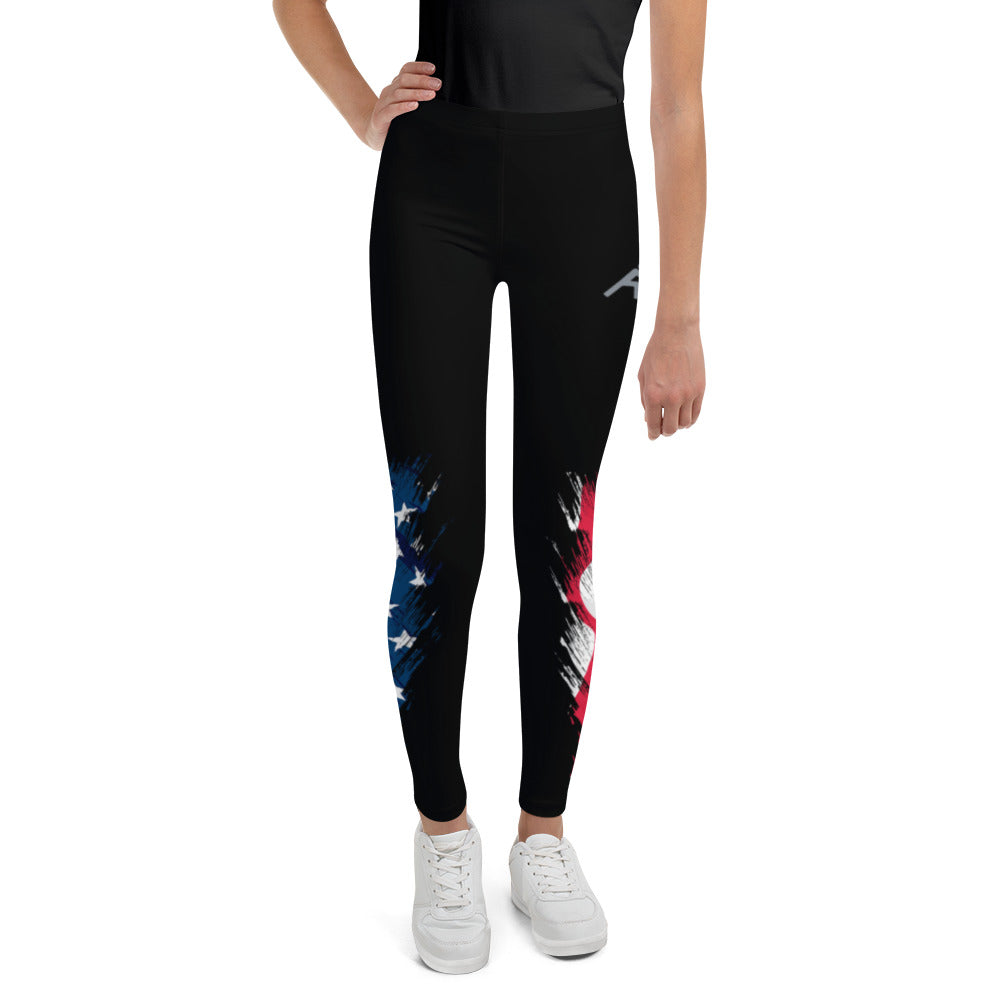 Patriotic Wrestling Youth Leggings