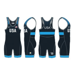 USAWR Elite Tour Singlet Navy - Womens