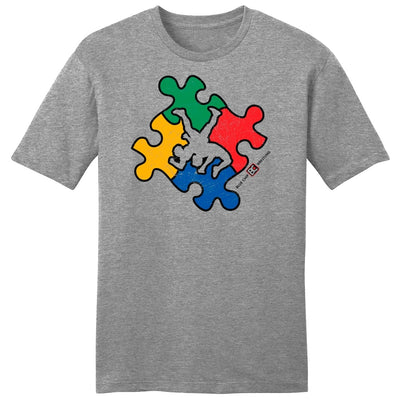 0d510d023cd Autism Awareness Wrestling Fundraiser T-Shirt - Blue Chip Wrestling