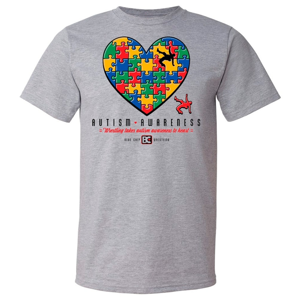 Autism Awareness Wrestling Heart Fundraiser T-Shirt