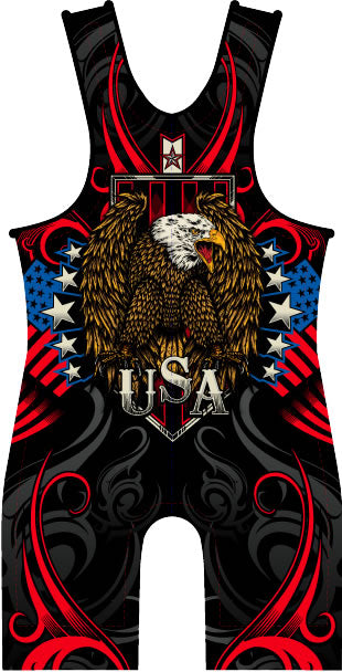 Made 4 U USA Triumph Wrestling Singlet