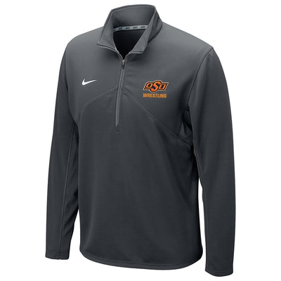 Oklahoma State Cowboys Wrestling Nike Dri-Fit Training 1/4 Zip Top