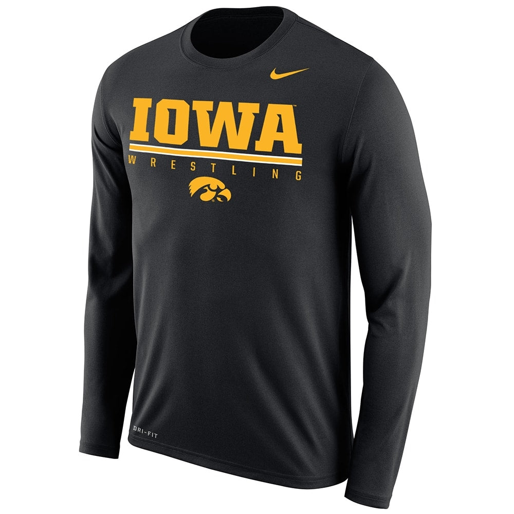 Iowa Hawkeyes Nike Wrestling Dri-Fit Legend 2.0 Long Sleeve Tee