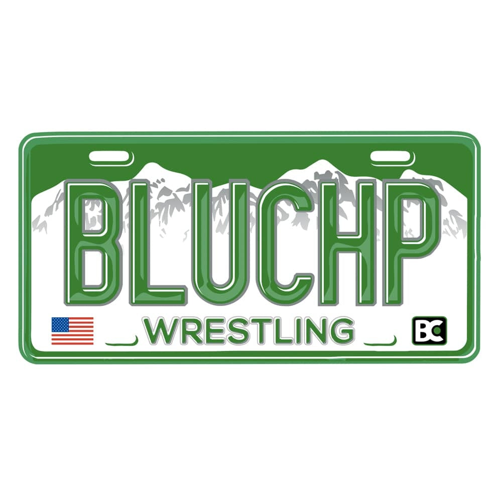 BLUCHP License Plate Die Cut Sticker