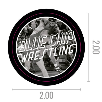 Blue Chip Flying Circle Die Cut Sticker