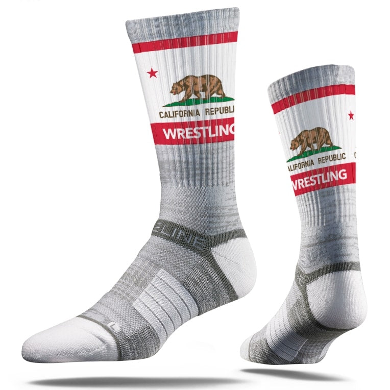 California Republic Sublimated Performance Wrestling Socks