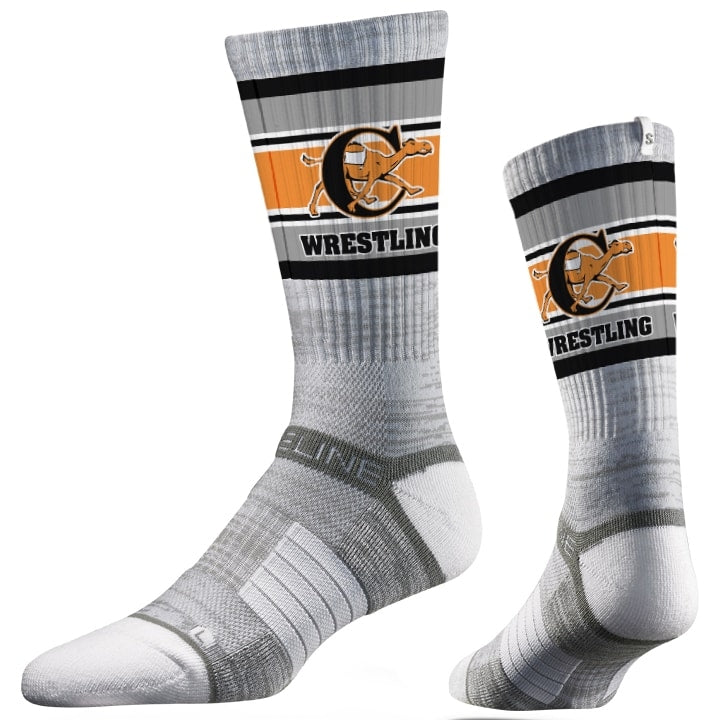 Campbell Camels Wrestling Performance Socks