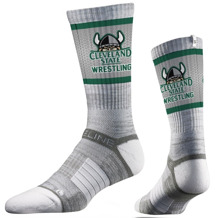 Cleveland State Vikings Wrestling Performance Socks