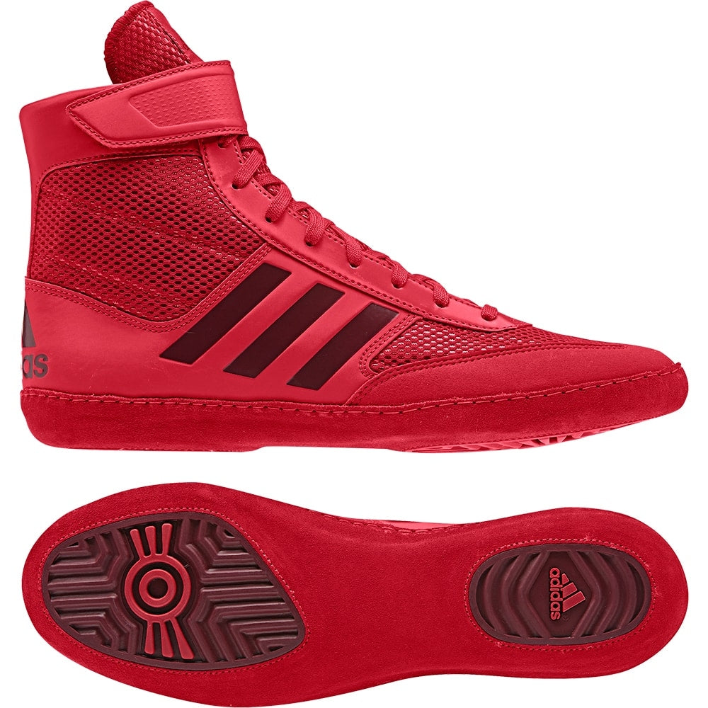 Adidas Combat Speed 5 Wrestling Shoes (Red / Dark Red)