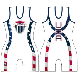 Made 4 U Women's USA Courage Wrestling Singlet