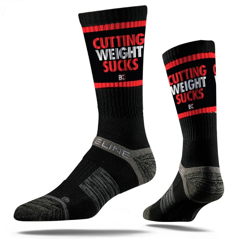 Cutting Weight Sucks Sublimated Performance Wrestling Socks