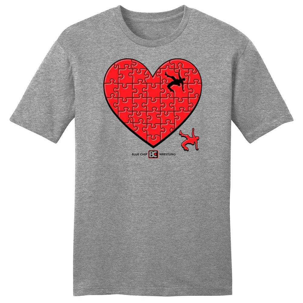 My Heart Belongs to Wrestling T-Shirt