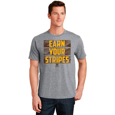 Earn Your Stripes Wrestling T-Shirt (Brown / Gold)