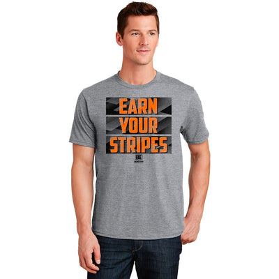 Earn Your Stripes Wrestling T-Shirt (Orange / Black)