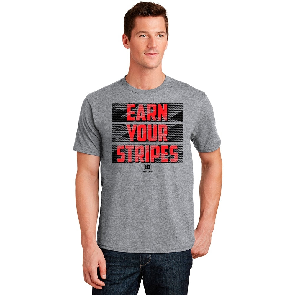 Earn Your Stripes Wrestling T-Shirt (Red / Black)