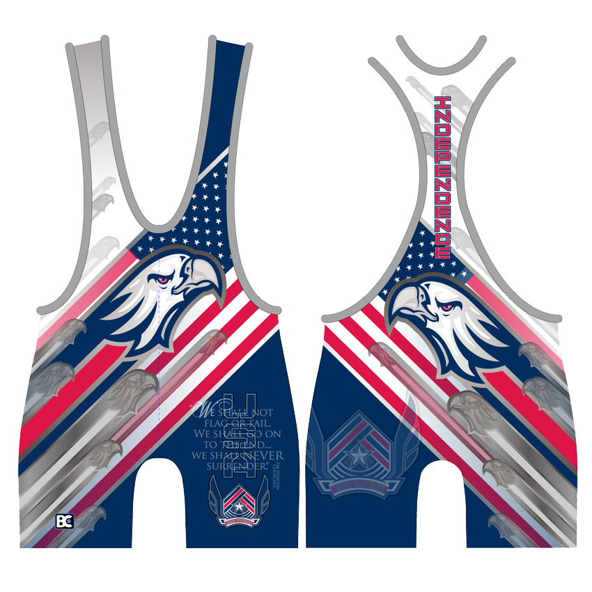 Made 4 U USA Independence Wrestling Singlet