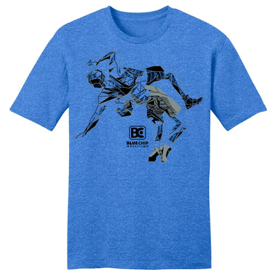 Blue Chip Wrestling Icon T-Shirt (Royal)