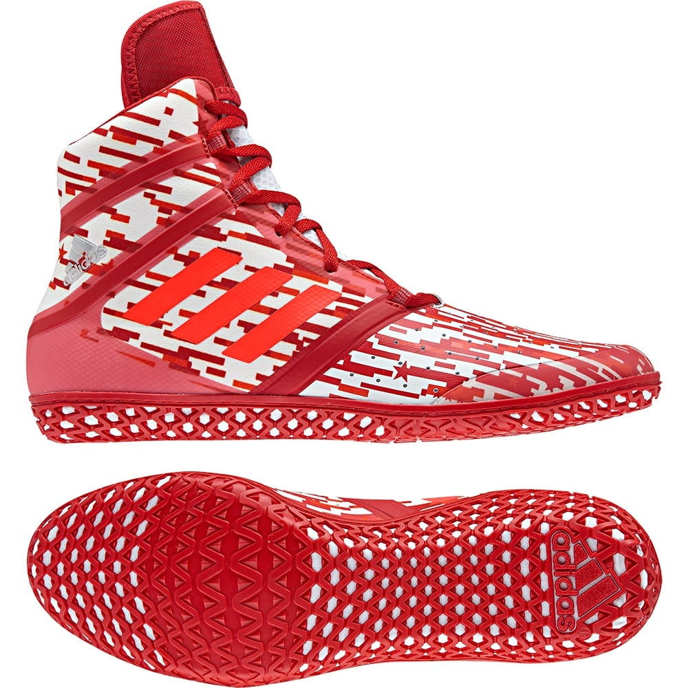 Adidas Impact Wrestling Shoes (Red Digital Print)