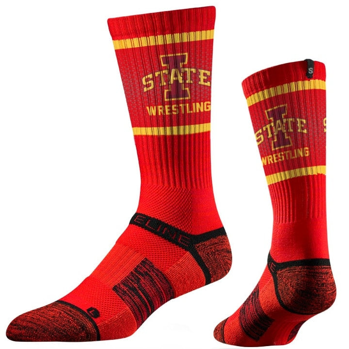 Iowa State Cyclones Wrestling Performance Socks