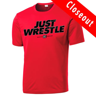 Just Wrestle Performance T-Shirt (Red)
