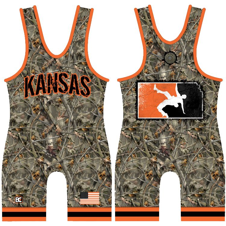 Made 4 U Kansas Reaper Buck Wrestling Singlet