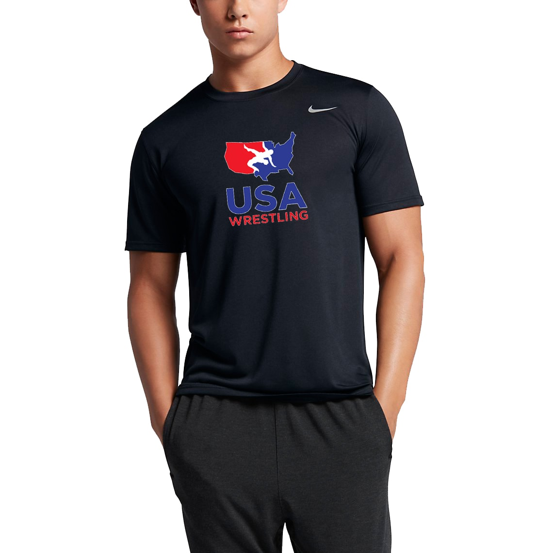 Nike USA Wrestling Legend Tee (Black)