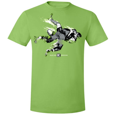 Lime Green Blue Chip Wrestling T-Shirt