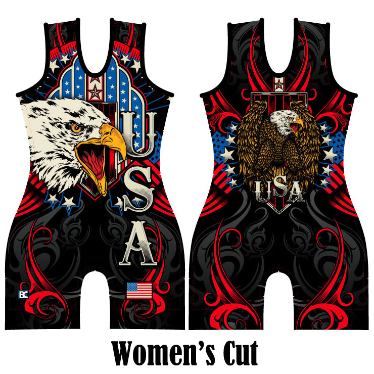 Made 4 U Women's USA Triumph Wrestling Singlet